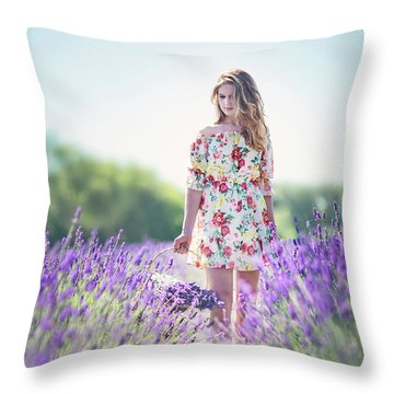 Embraced In Lavender Throw Pillow
