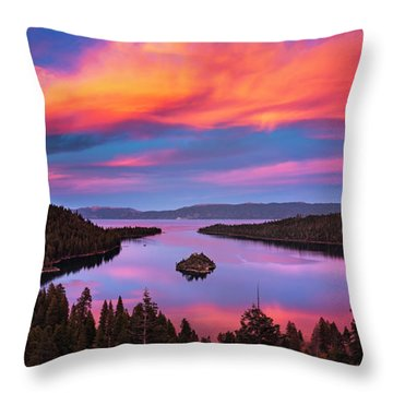 Emerald Bay Explode Throw Pillow