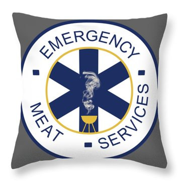 Emergency Meat Service Throw Pillow