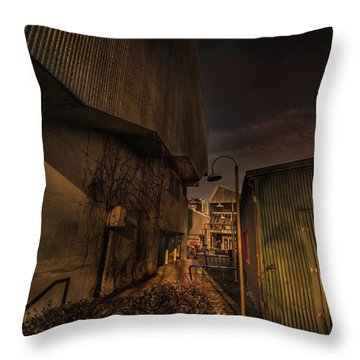 Throw Pillow featuring the photograph Emily Carr Alley by Juan Contreras