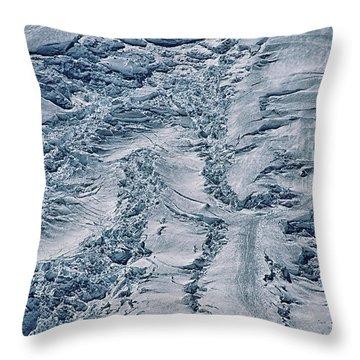 Emmons Glacier On Mount Rainier Throw Pillow