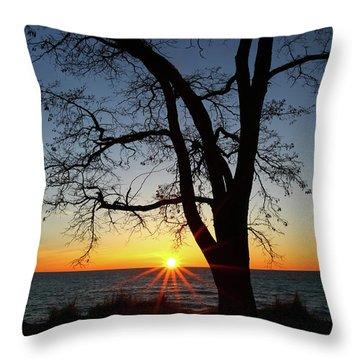 Empire Beach Sunset Throw Pillow