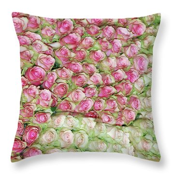Empress Josephine's Roses Throw Pillow