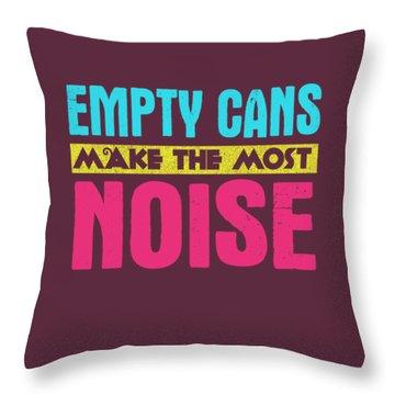Empty Cans Throw Pillow