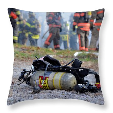 Throw Pillow featuring the photograph Empty by Carl Young