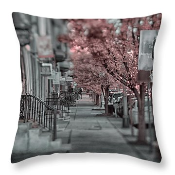Empty Sidewalk Throw Pillow