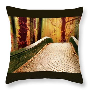Throw Pillow featuring the photograph Enchanted Autumn by Jessica Jenney