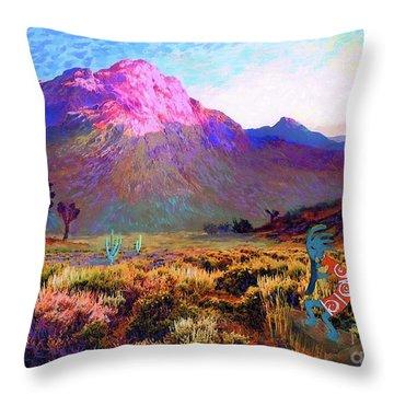 Kokopelli Dawn Throw Pillow