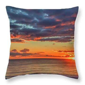 End Of Day Light Show Throw Pillow