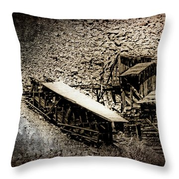 End Of The Line Mine Throw Pillow