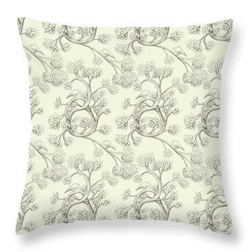 Endpapers Throw Pillow
