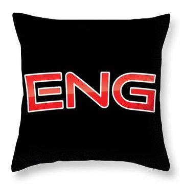 Eng Throw Pillow