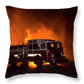 Engine 2 Throw Pillow