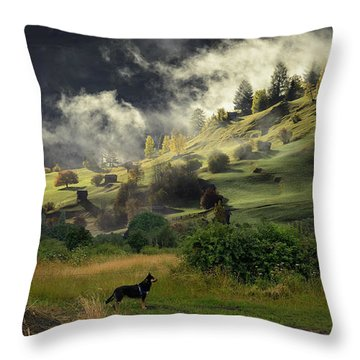 English Courtryside Throw Pillow