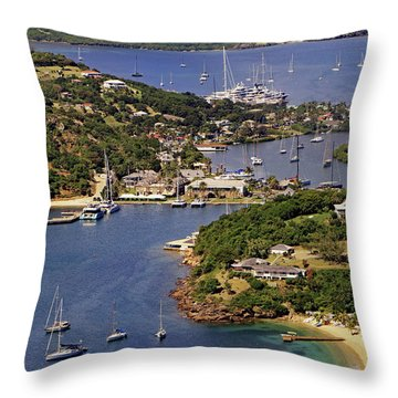 Throw Pillow featuring the photograph English Harbour by Tony Murtagh