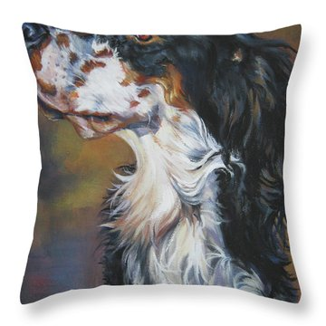 English Setter Tricolor Throw Pillow