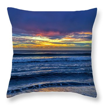 Entering The Blue Hour Throw Pillow
