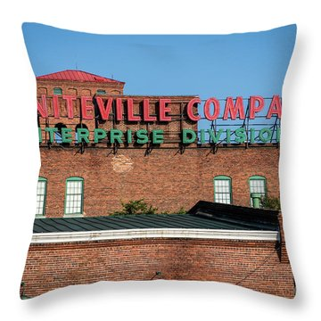 Enterprise Mill - Graniteville Company - Augusta Ga 1 Throw Pillow