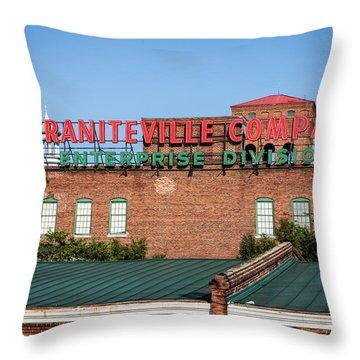 Enterprise Mill - Graniteville Company - Augusta Ga 2 Throw Pillow