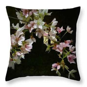 Throw Pillow featuring the digital art Ephemera by Gina Harrison