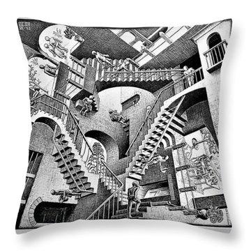 Escher 131 Throw Pillow
