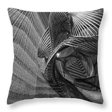 Escher's Summer Cottage Throw Pillow