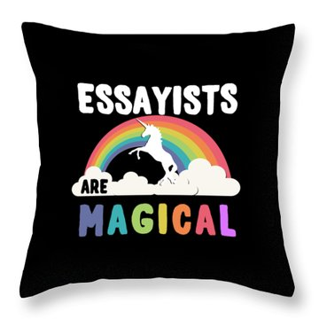 Throw Pillow featuring the digital art Essayists Are Magical by Flippin Sweet Gear