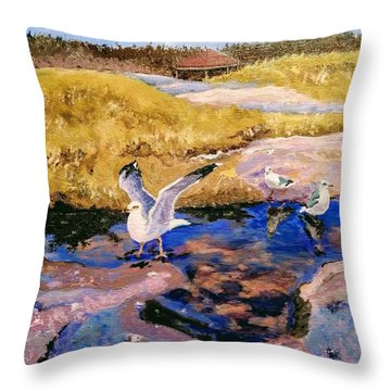 Throw Pillow featuring the painting Essence Of Life by Ray Khalife