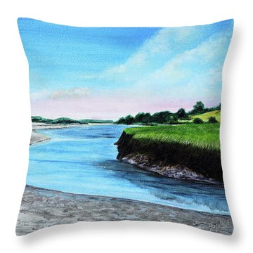 Essex River South Ipswich Throw Pillow