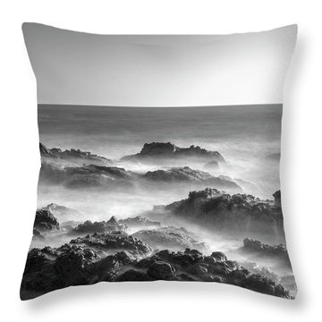 Throw Pillow featuring the photograph Eternal Battle Of Wind And Water by Quality HDR Photography