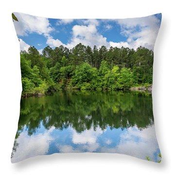 Euchee Creek Park - Grovetown Trails Near Augusta Ga 1 Throw Pillow