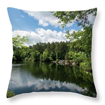 Euchee Creek Park - Grovetown Trails Near Augusta Ga 2 Throw Pillow