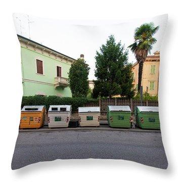 European New Topographics 4 Throw Pillow
