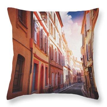 European Street Scenes Toulouse France  Throw Pillow