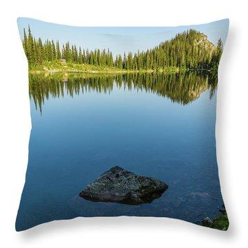 Eva Lake Mirror Throw Pillow