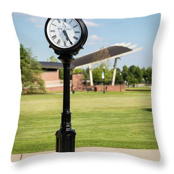 Evans Towne Center Park Clock - Columbia County Ga Throw Pillow