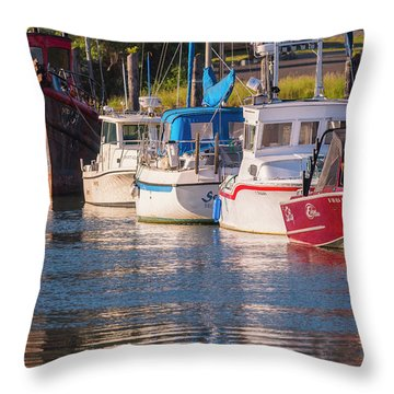 Evening At The Harbor Throw Pillow