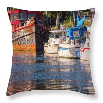 Evening At The Harbor Throw Pillow