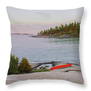 Throw Pillow featuring the painting Evening Calm II by Kenneth M Kirsch