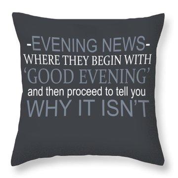 Evening News Throw Pillow