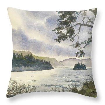 Evening On Derwentwater Throw Pillow