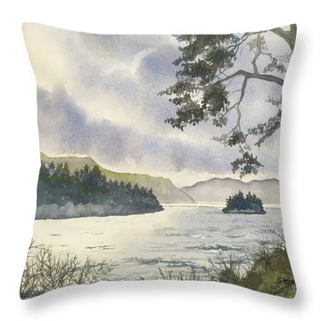 Evening On Derwentwater Throw Pillow