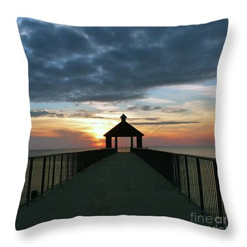 Throw Pillow featuring the photograph Evening Peace by Rosanne Licciardi