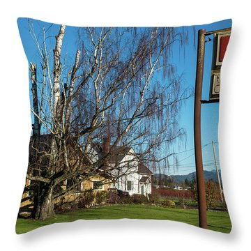Evergreen Golf Course Throw Pillow