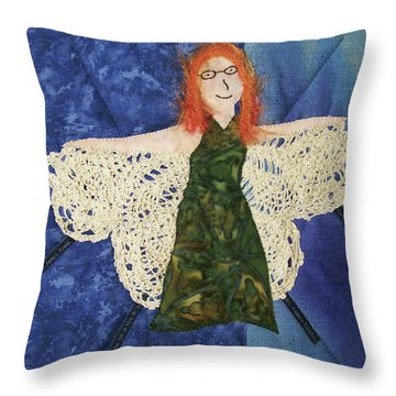 Every Fiber Of Her Being Throw Pillow
