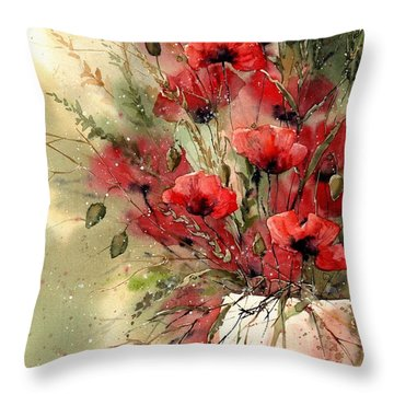 Everything About Poppies I Throw Pillow