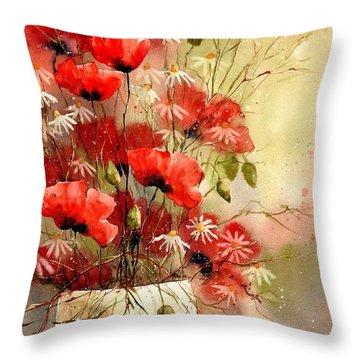 Everything About Poppies IIi Throw Pillow