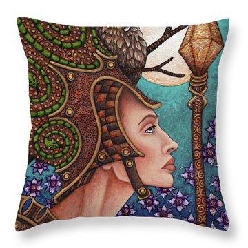 Exalted Beauty Athena Throw Pillow