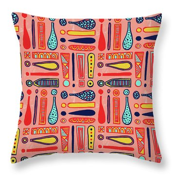 Exclamations Pattern Throw Pillow