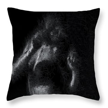 Throw Pillow featuring the digital art Exhale by ISAW Company